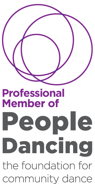 People Dancing logo which says: Professional Member of People Dancing the foundation for community dance in text